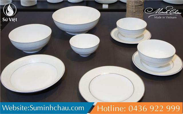 cung cấp bát đĩa sứ Minh Châu