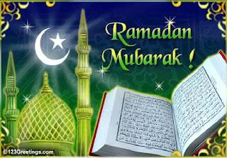 Gambar Indah Islami Arab Ucapan Ramadhan 2017
