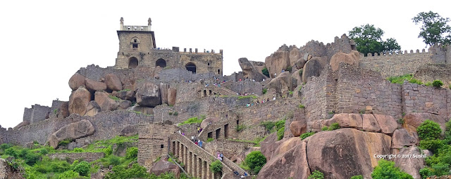 View of Top Part of the Golconda Fort, Hyderabad