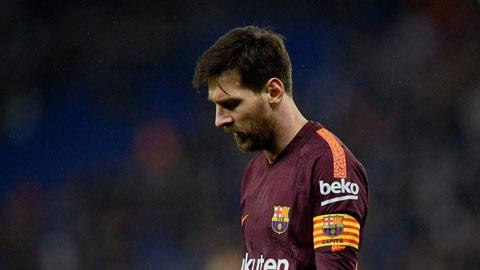 Barcelona đã đứt mạch bất bại trước Espanyol