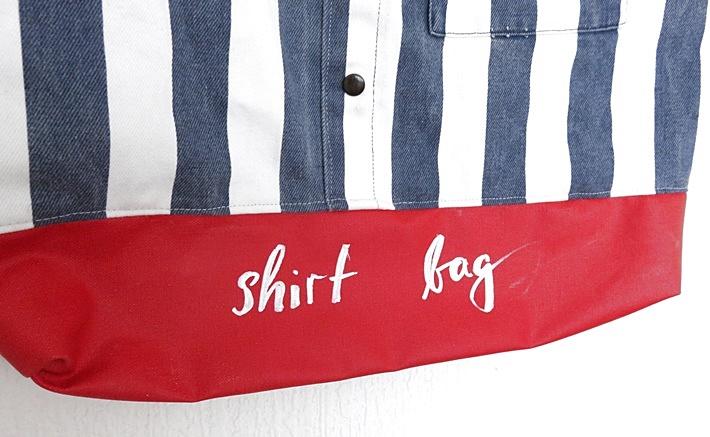 Tasche aus Hemd und Tafelstoff genaeht - upcycling - DIY - Teilansicht