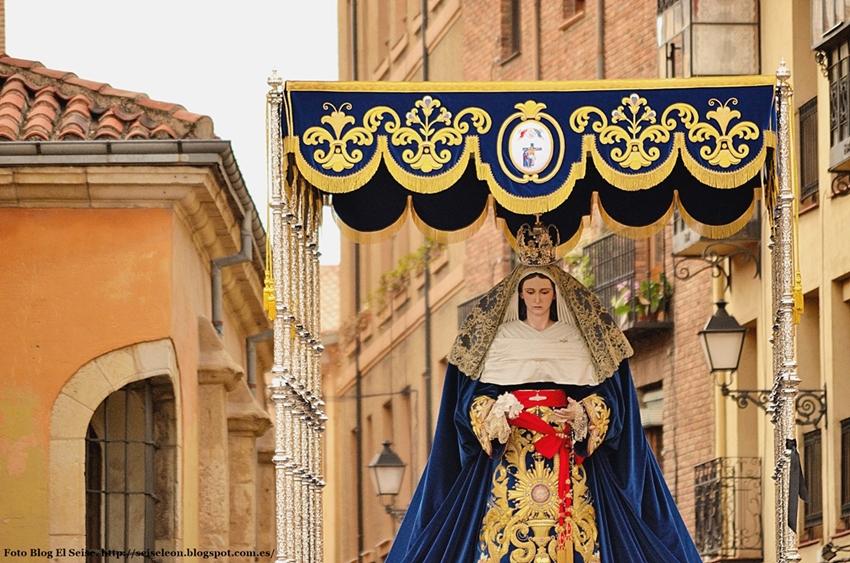 Virgen de la Esperanza. Sacramentado. Foto G. Márquez. 2015. León