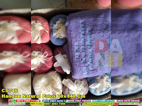 jual Handuk Natural Polos 70x140 Cm