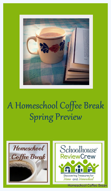 A Homeschool Coffee Break Spring Preview @ kympossibleblog.blogspot.com - These are the Schoolhouse Crew reviews we're working on this spring!