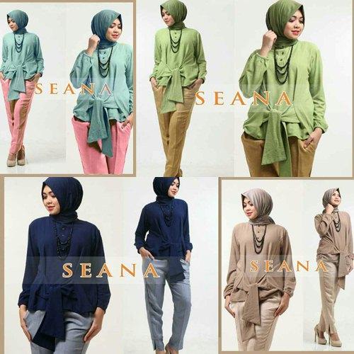 Jual Plus Jilbab / Kerudung 3 In 1 Seana Jersey Set - 13225