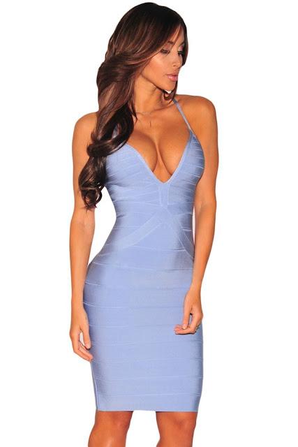 rochie albastra mulata