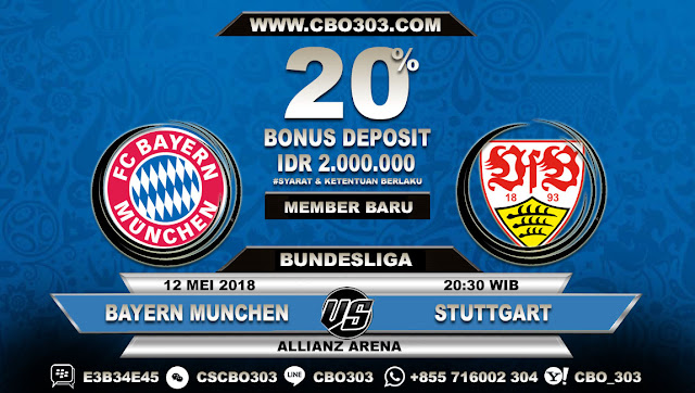 Prediksi Bola Bayern Munchen VS Stuttgart 12 Mei 2018