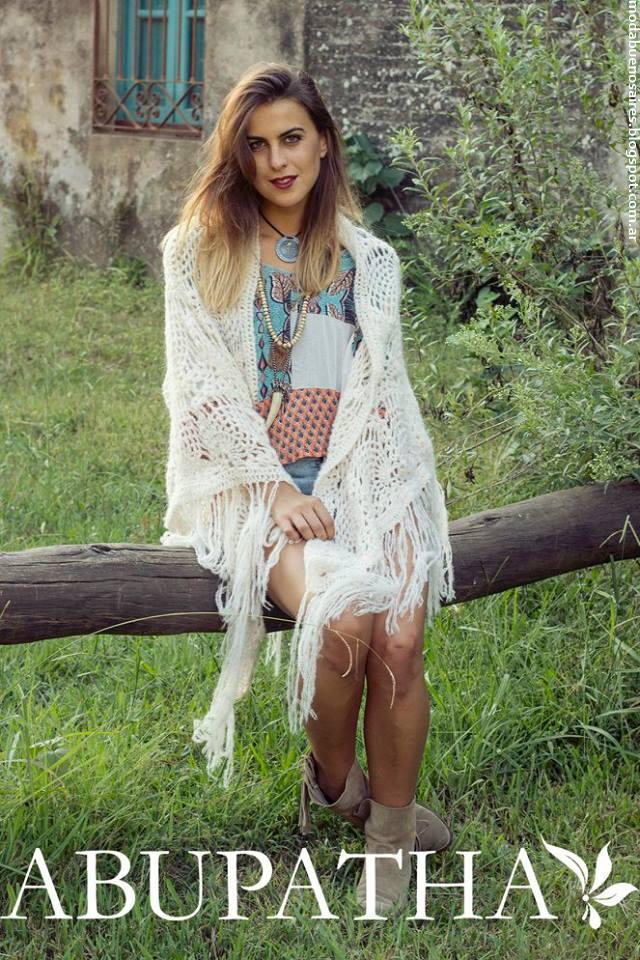 Moda sacos tejidos invierno 2016 chales moda mujer Abupatha.
