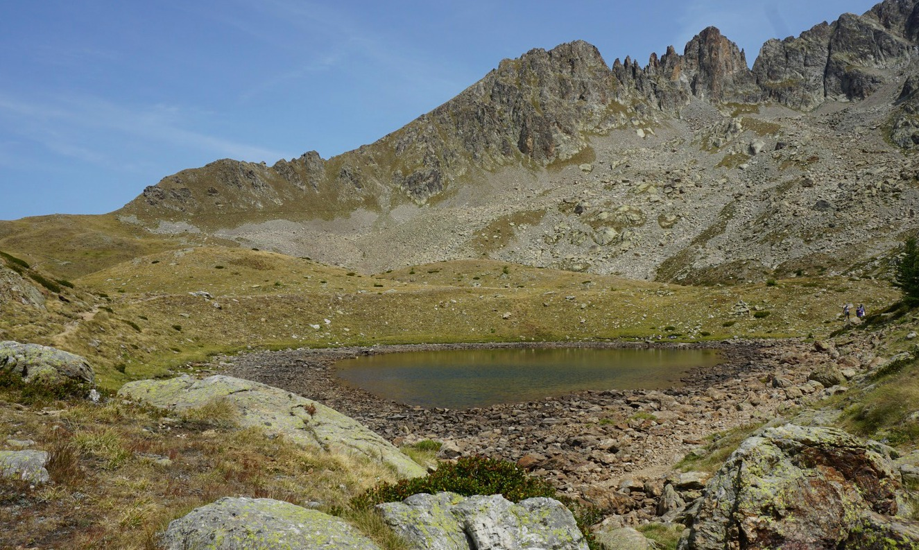 One of the Prals Lakes above Madone de Fenestre