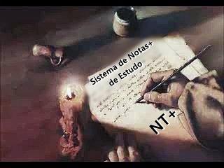 """Imagem de uma mão escrevendo a luz de velas, anunciando o inicio do Sistema de Notas+ de Estudo """"NT+"""""""