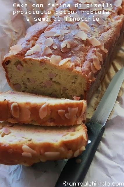 Cake con Farina di Piselli, Prosciutto Cotto, Robiola e Semi di Finocchio