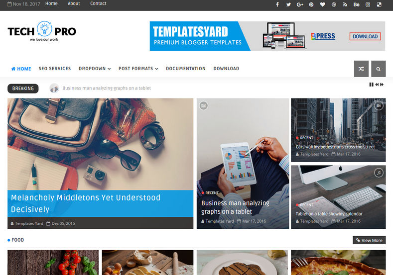 Techpro technology blogger template blogger templates gallery techpro technology blogger template wajeb Images