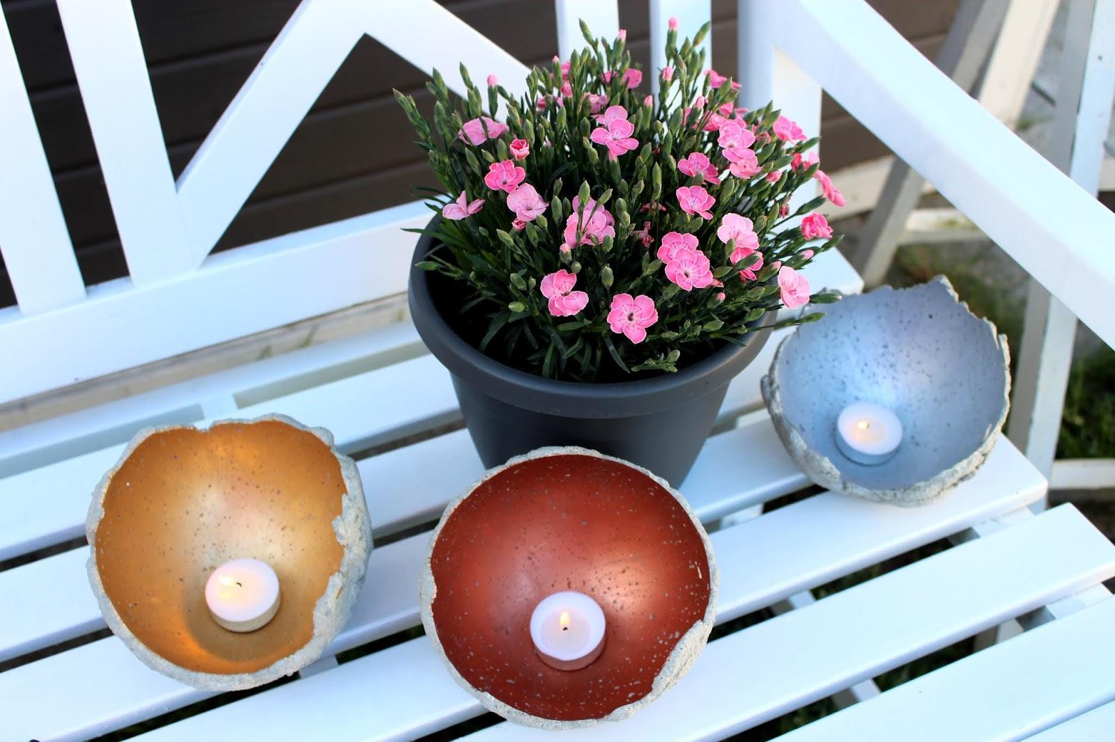 DIY Windlichter aus Beton ganz einfach selber machen - die perfekte Gartendeko