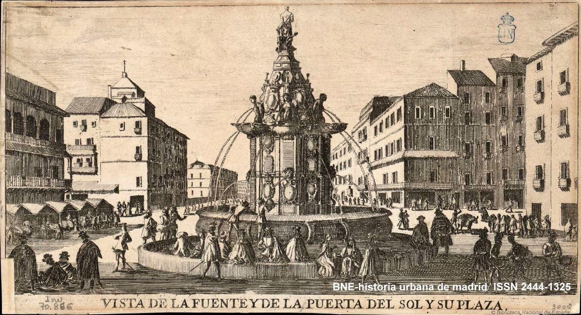 Historia urbana de madrid tra da de aguas fuente del for Fuente de la puerta del sol