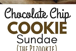 Mini Individual Chocolate Chip Cookie Sundae Recipe (Pizzokie)