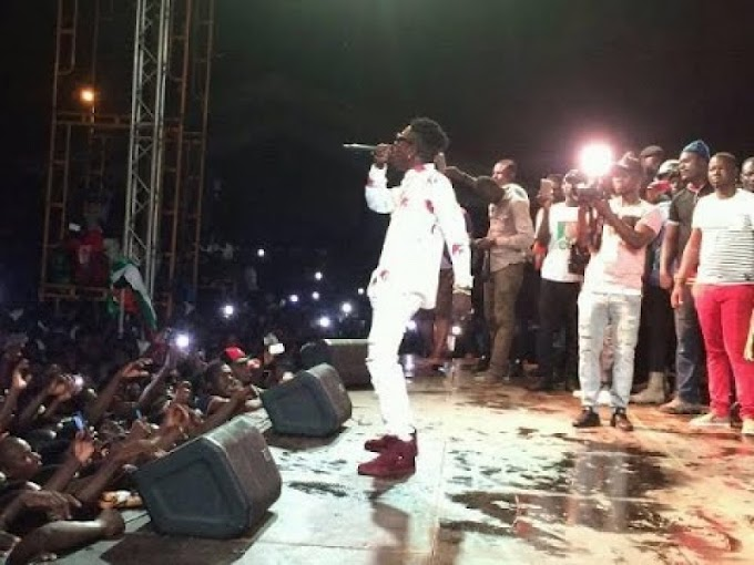 Shatta Wale performs at NDC rally