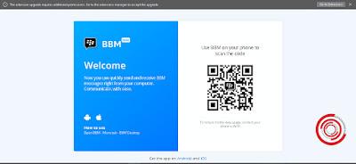 Selanjutnya kalian kunjungi web BBM Desktop di https://web.bbmessaging.com