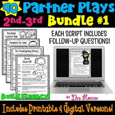 Partner Play Bundle of 90 scripts for 2nd and 3rd graders! These are a perfect reading activity that builds fluency! Ideal for classroom implementing the Daily 5 routine!
