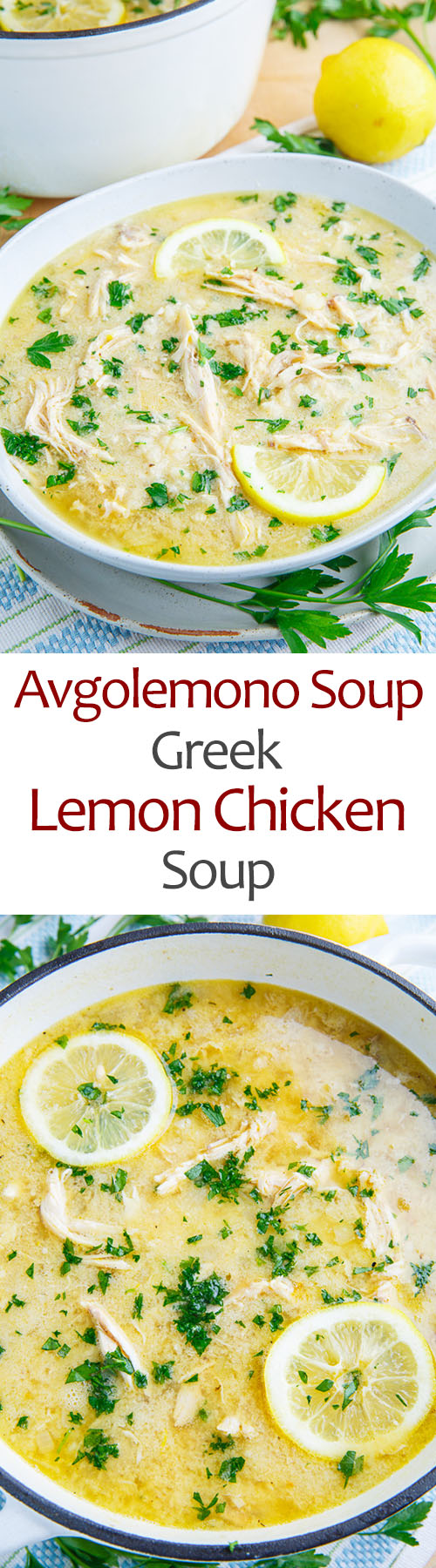 Avgolemono Soup (aka Greek Lemon Chicken Soup)