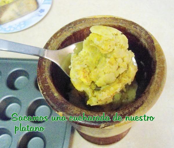 Asi cocina Esther TARTICOS DE PLATANO RELLENOS DE SALAMI
