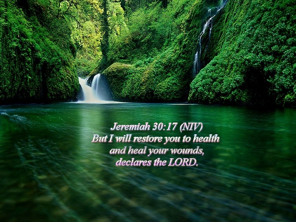 Christian Wallpapers: Bible Verse Wallpaper - Jeremiah 30:17