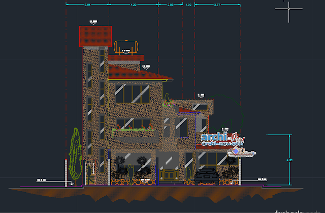 Separated house 3 levels Dwg