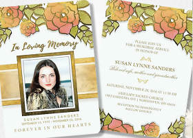 shop custom memorial service invites
