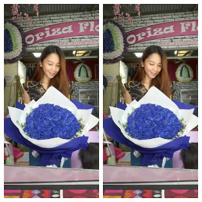toko bunga valentine surabaya, jual mawar biru di surabaya