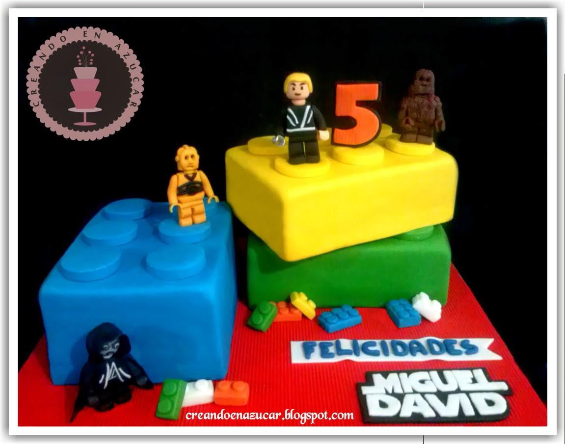 abbastanza Creando en azucar: Torta de Lego star wars BW53