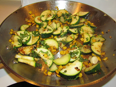 Do you have an abundance of fresh veggies?  Try this zucchini succotash.  It's packed with hearty vegetables and provides great flexibility based the vegetables you have on hand.