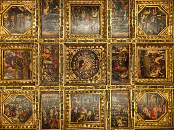 florence toscane palazzo vecchio plafond salle cinq-cents