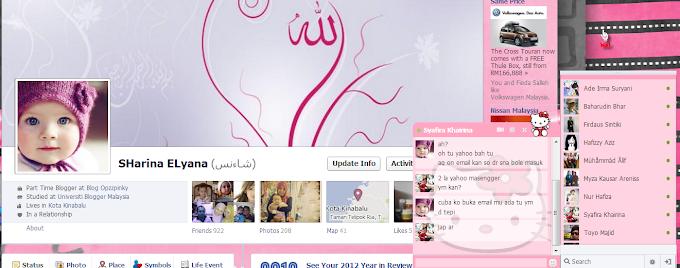 Cara Tukar FB Chat Kepada Hello Kitty dan Teddy Bear
