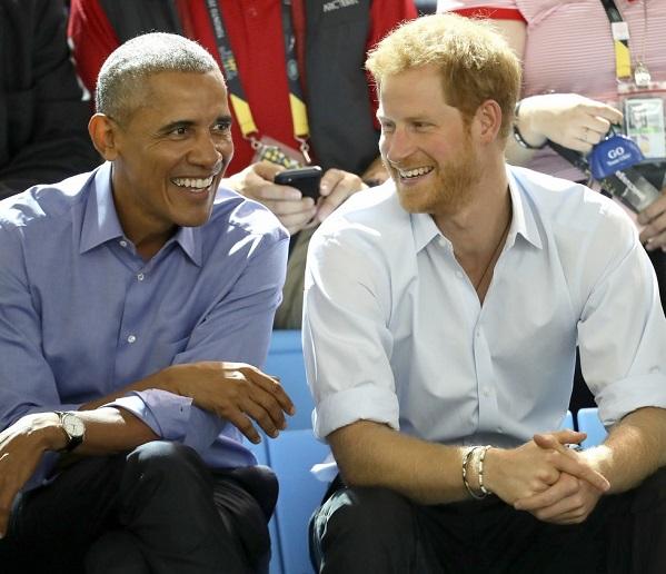 VJBrendan.com: Barack Obama & Prince Harry Sit Together At
