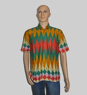 Baju Batik Pria, Hem Batik Rangrang [H880] Kuning