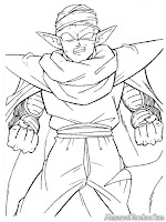 Mewarnai Gambar Piccolo Dragon Ball Z