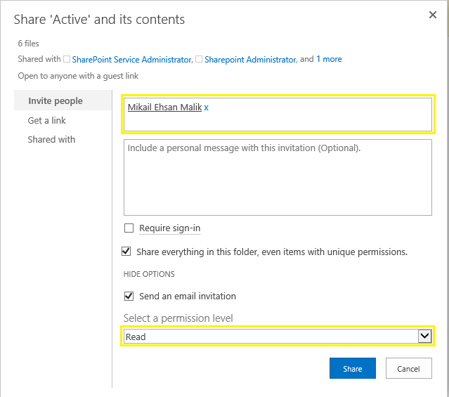 sharepoint online set permissions on folder