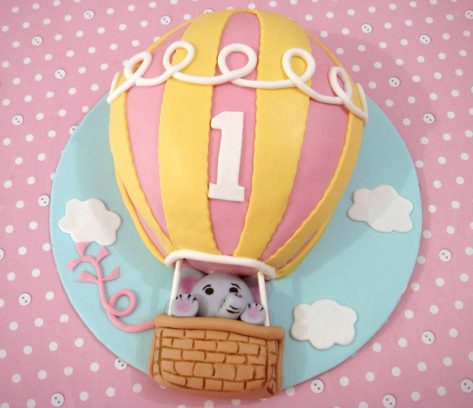 Butter Hearts Sugar Hot Air Balloon Cake And Cookies