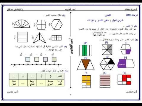 ملزمة ماث math للصف الثالث الابتدائي ترم اول 2021