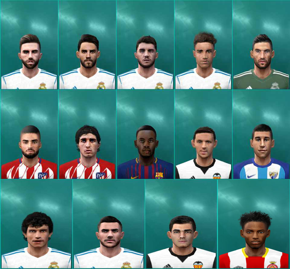 Ultigamerz Pes 2010 Pes 2011 Face: Ultigamerz: PES 6 Big LaLiga Face-Pack 2018 Fix
