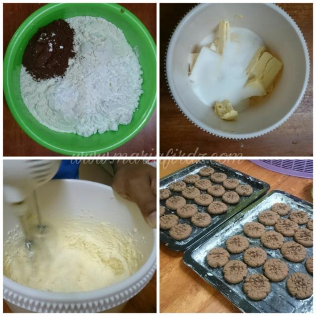 Resepi Biskut Butter Coklat Mudah, Hanya Guna 5 Bahan.
