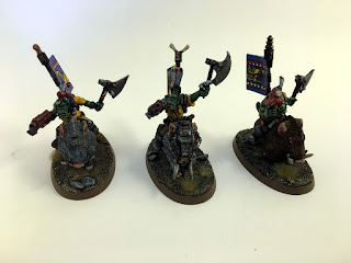 40k 2nd edition Snakebite Boarboyz small group 1