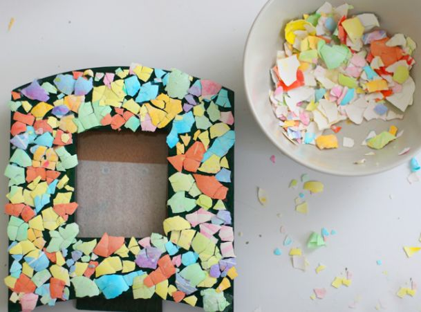 Ideas Para Reciclar Decoracion De Marcos Con Cascara De Huevos - Decorar-marco-fotos