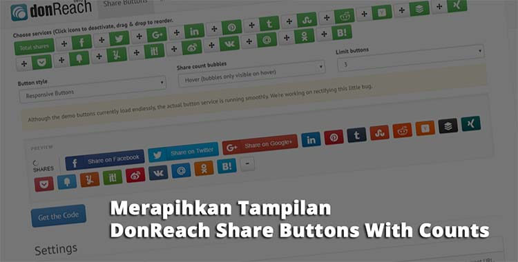 Merapihkan Tampilan DonReach Share Buttons With Counts