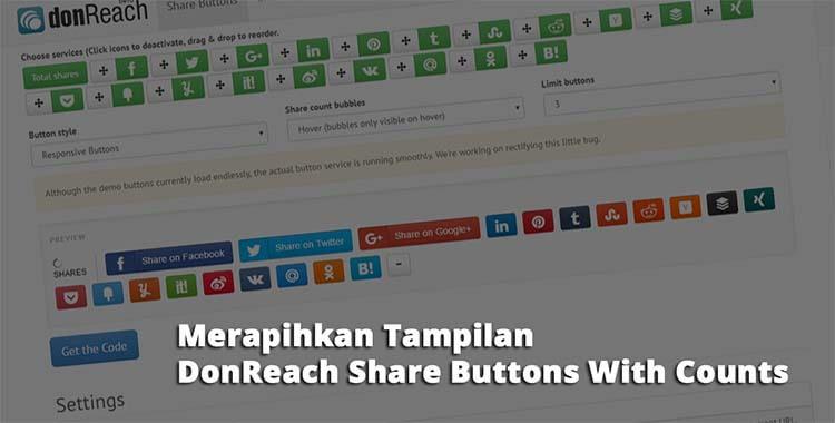Merapihkan Tampilan DonReach Share Buttons With Counts