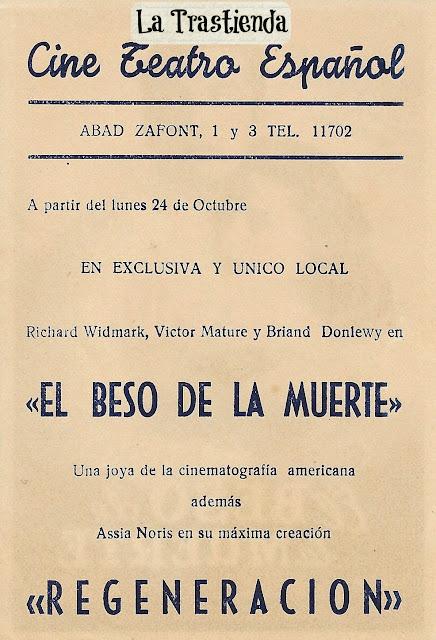 Programa de Cine - El Beso de la Muerte - Victor Mature - Richard Widmark - Coleen Gray