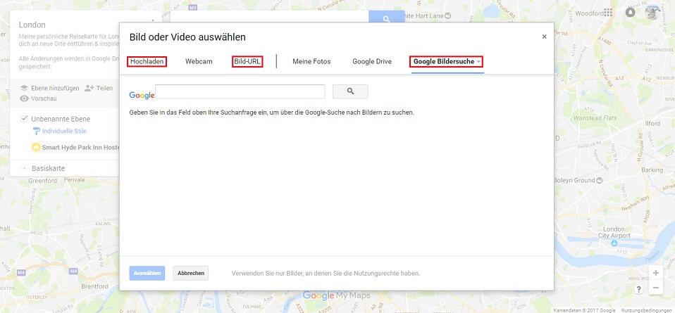 Google Maps Karte Foto hinzufügen Screenshot