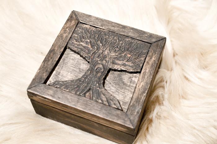 pudełko drewniane- prezent DIY