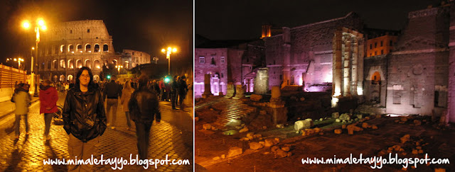 Paseo nocturno por la zona del Coliseo