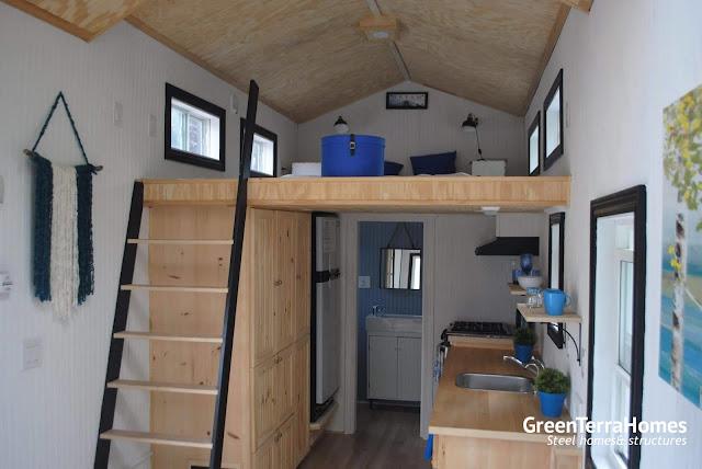 Tiny House Town Custom Green Terra Home 310 Sq Ft
