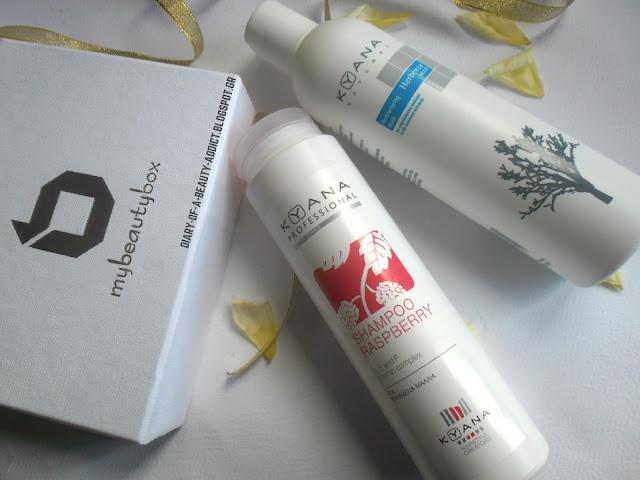 KYANA Professional Shampoo Raspberry COSMOCAIR, KYANA Professional Restructuring Mask with COSMOCAIR